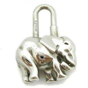 Authentic HERMES Elephant Motif Lock Bag Charm